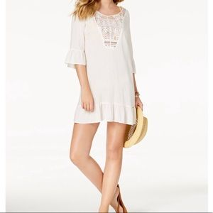Roxy cacti Tazia embroidered bell sleeve cover up